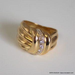 Bague Or 18k 750 Diamants- 7.55grs- 51