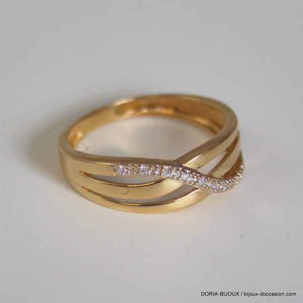 Bague Or 18k 750 Diamants- 2.2grs- 51
