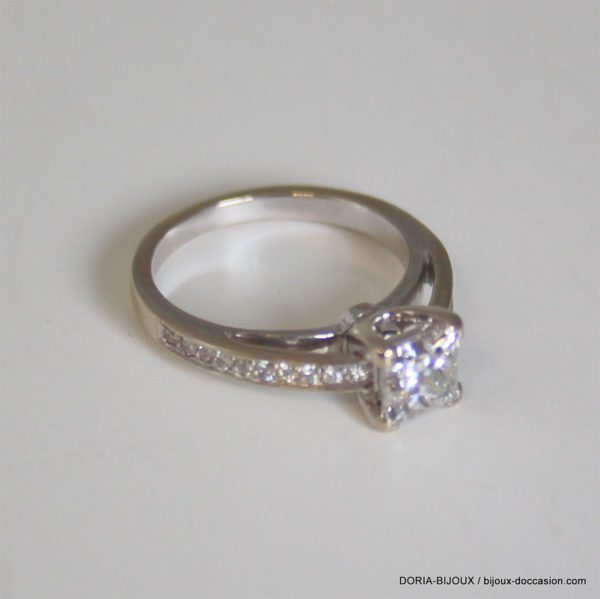 Bague Or 18k 750 Diamants- 3.5grs- 49