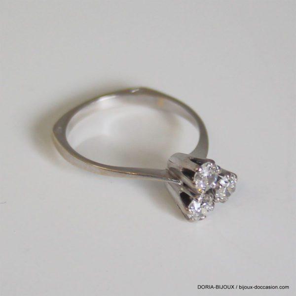 Bague Trilogie Or 18k 750 Diamants- 2.4grs- 50