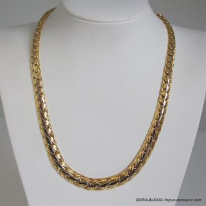 Collier Or 18k 750/000 Maille Haricot 34grs