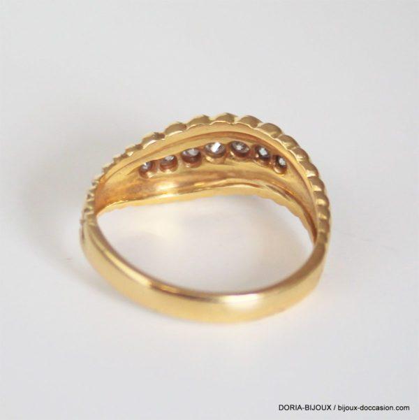 Bague Or 18k, 750/000 Diamants - 3.8 Grs - 54