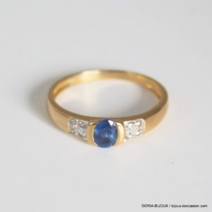 Bague Or 18k Saphir Diamants 2.3grs -55