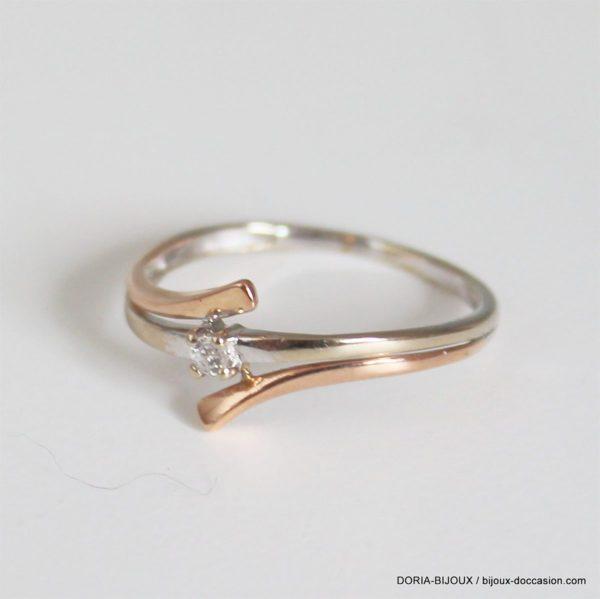 Bague Or 18k, 750 Solitaire Diamant 0.20 Carats -52