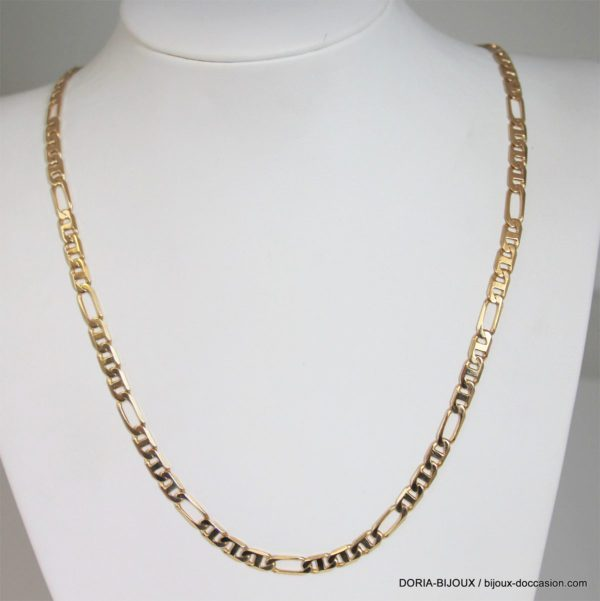 Chaine Or 18k 750 Maille Alternee 27.2grs
