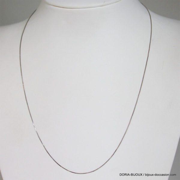 Chaine Or Gris 18k 750 Maille Venitienne 42cm -1grs