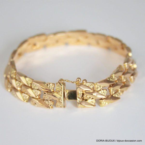 Bracelet Or Jaune 50 18k Vintage 18cm- 21.5grs