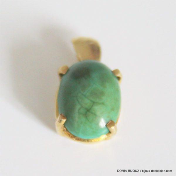 Pendentif Or Jaune 18k 750 Jade 1.9grs
