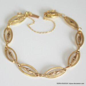 Bracelet Or Jaune 750 18k Vintage 18cm- 10.9grs