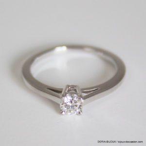 Bague Or 18k, 750 Solitaire Diamant 0.28 Carats -52