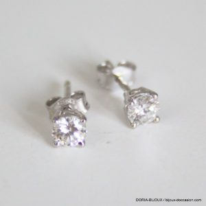 Boucles D'oreilles Or 18k Clous Diamants