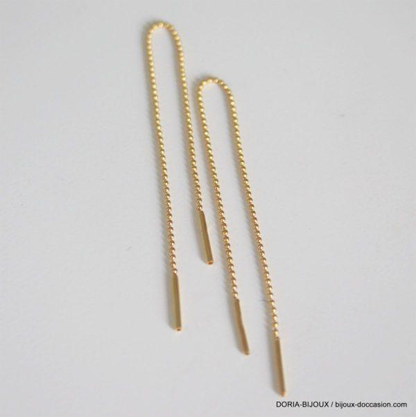 Boucles D'oreilles Pendantes Or 18k 750 - 1.1grs