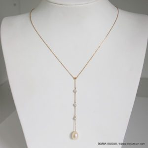 Collier 4  Perles Or 18k 750/000  - 40cm- 2.1grs