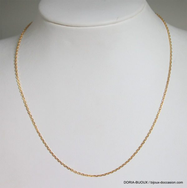 Chaine Maille Forçat Or 18k 750 - 41cm - 2.7grs