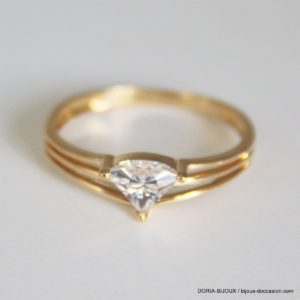 Bague Or 18k, 750 Oxydes -1.4grs - 52