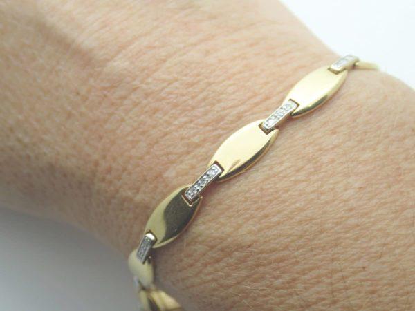 Bracelet Bicolore Diamants