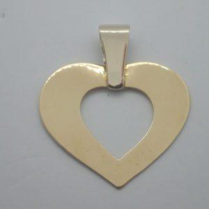 Pendentif Or Bicolore Coeur