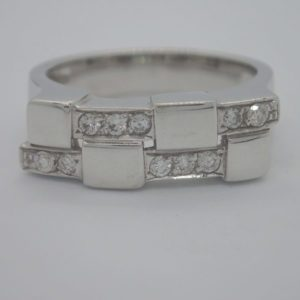 Bague Or Gris Diamants