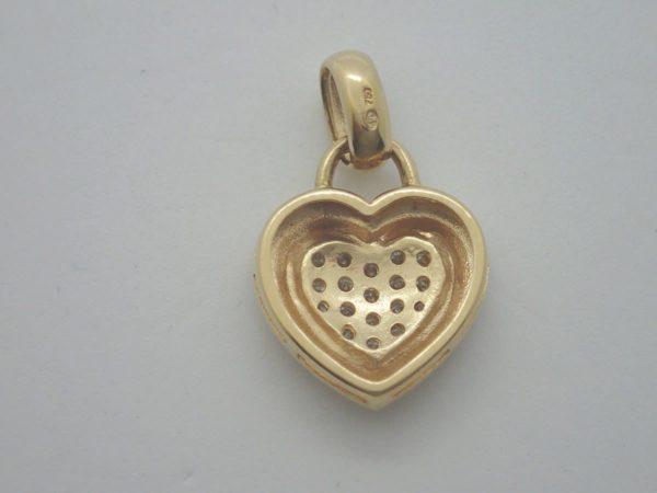 Pendentif Coeur Diamants