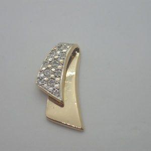 Pendentif Bicolore Diamants