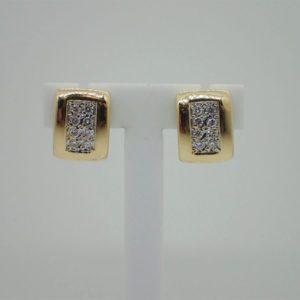 Boucles d 'oreilles d' occasion en or jaune 18k