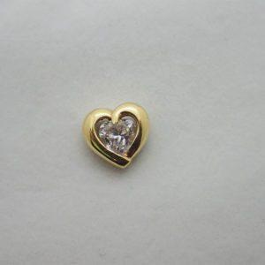 Pendentif coeur en or jaune 18k