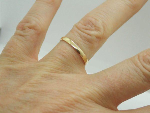 Bague anneau d' occasion en or jaune 18k