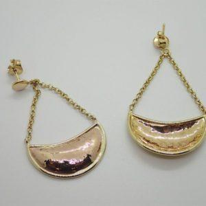 Boucles d 'oreilles d' occasion en or jaune 9k