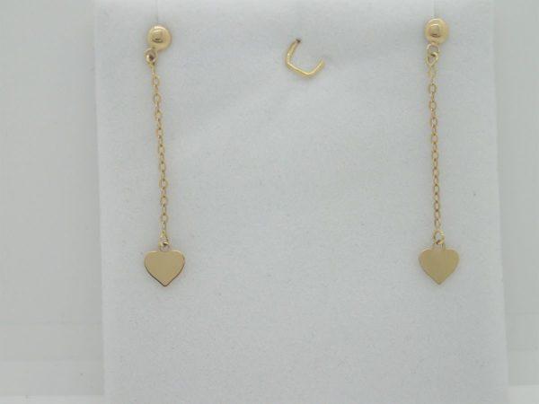 Boucles d'Oreilles Coeur Longue