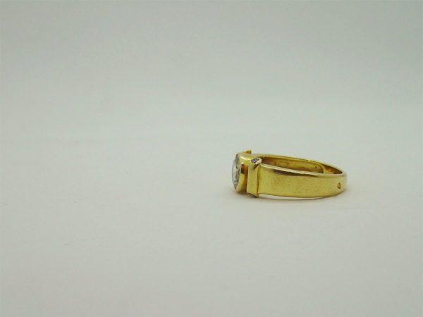 Bague d'occasion en or jaune 18k 750/000