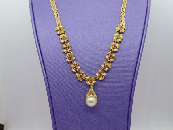 Collier or jaune 18k