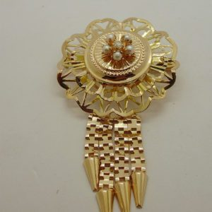 Broche d' occasion en or jaune 18k