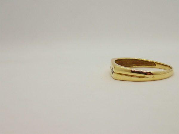 Bague chevalière d'occasion en or jaune 18k