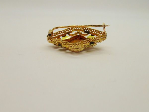 Broche d'occasion en or bicolore 18k