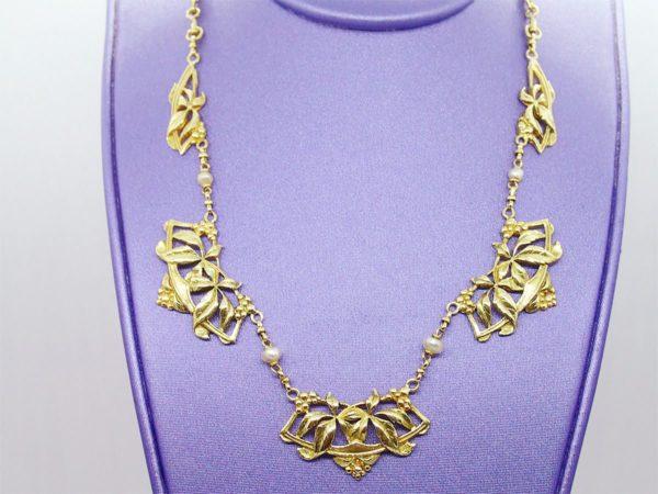 Collier vintage d' occasion en or jaune 18k