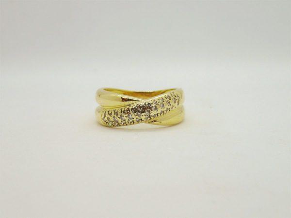 Bague d' occasion en or jaune 18k 750/000