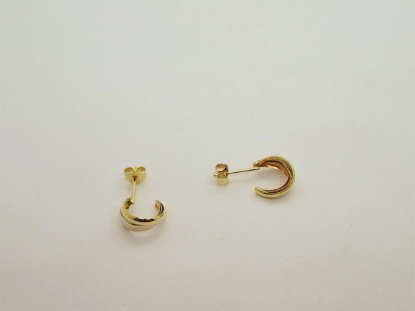 Boucles d'oreilles d'occasion 3 ors jaune 18k
