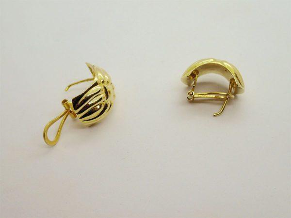 Boucles d'oreilles d' occasion en or jaune 18k