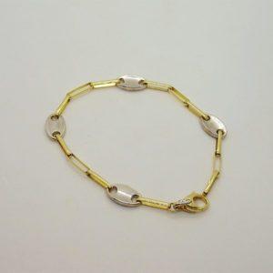 Bracelet d' occasion en or bicolore 18k