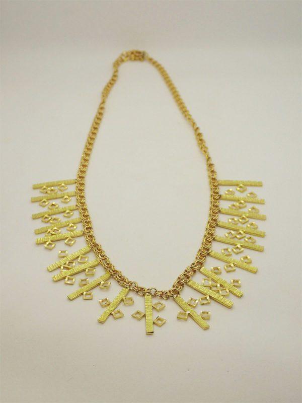 Collier vintage fantaisie d' occasion en or jaune 18k