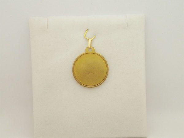 Pendentif médaille saint christophe d' occasion en or jaune 18k