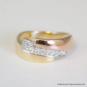 Bague Or 18k/750 Pavage Diamants 2.5grs -46-