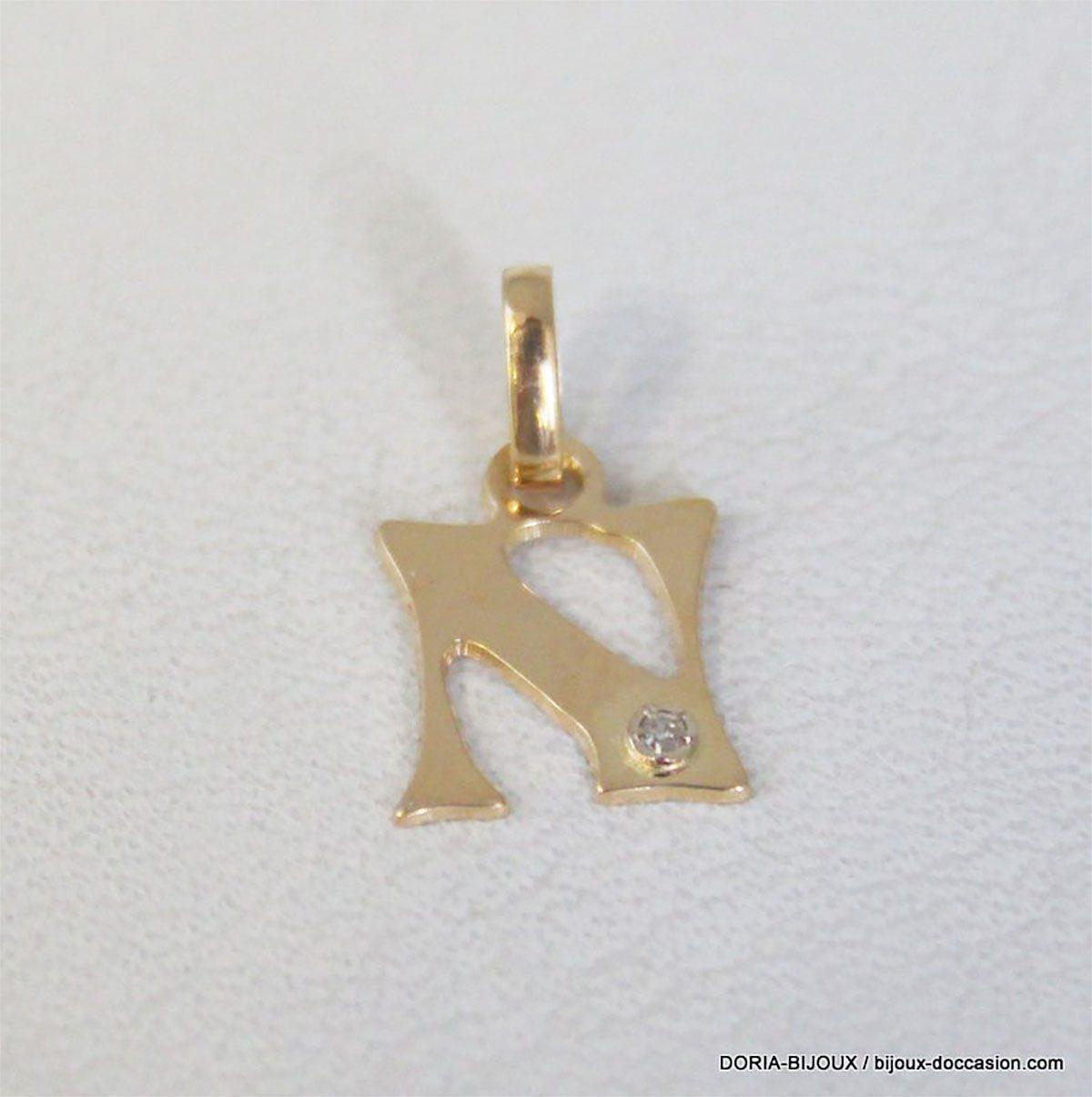 Pendentif Or 18k, 750  Diamant 2.3grs