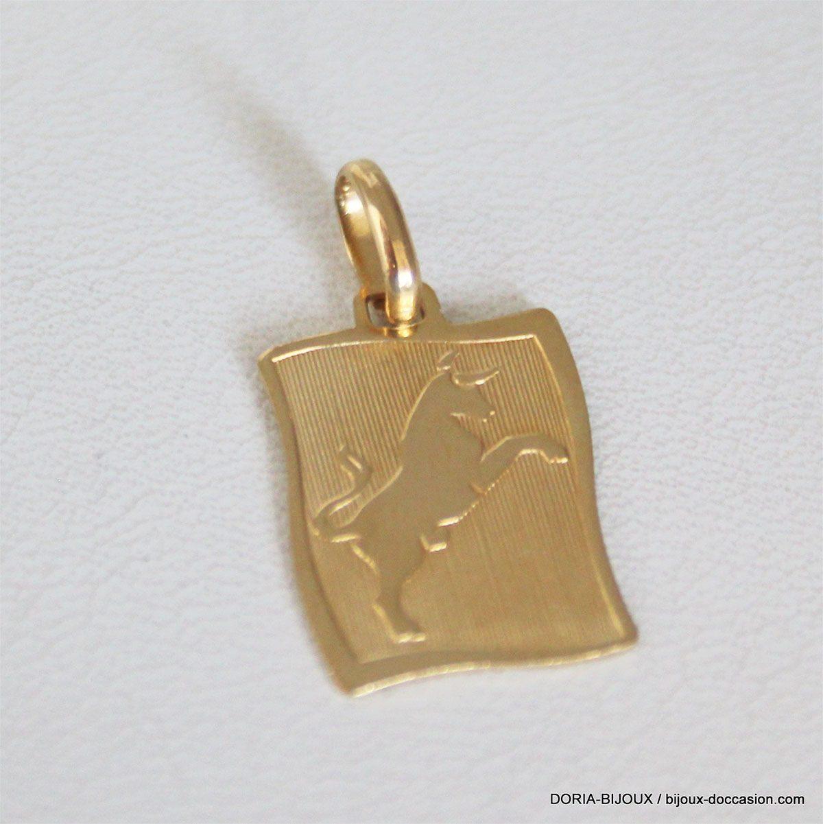 Pendentif Or 18k, 750 Zodiaque Taureau  - 0.8grs