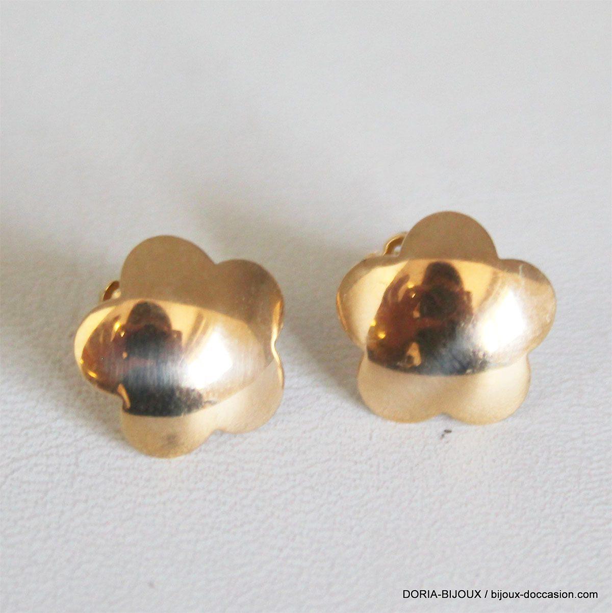 Boucles D 'oreilles Fleur Or 18k 750 - 2.1grs