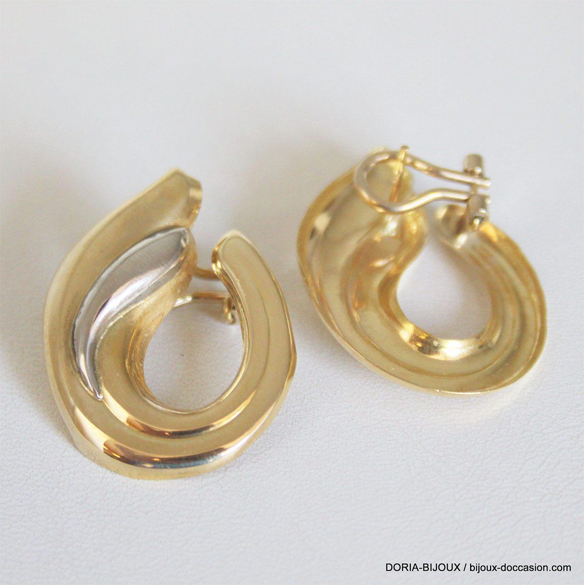 Boucles D 'oreilles Clip Or 18k 750 - 9.4grs