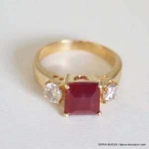 Bague Or 18k 750/000 Rubis 4.5grs - 51