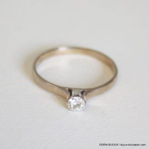 Bague Or Solitaire Diamant 0.12 Carats 1.9grs - 56-