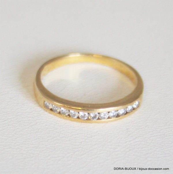 Bague Demi Alliance Or 18k 750 Diamants- 2.6grs- 50