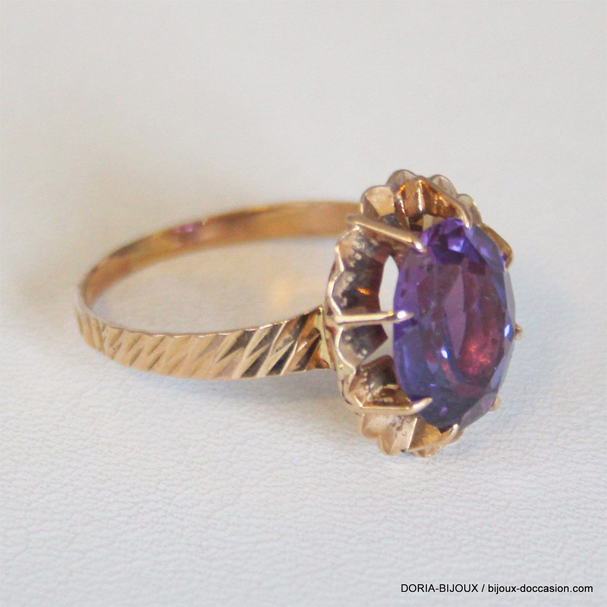 Bague Or 18k 750 Amethyste 4.2grs- 60